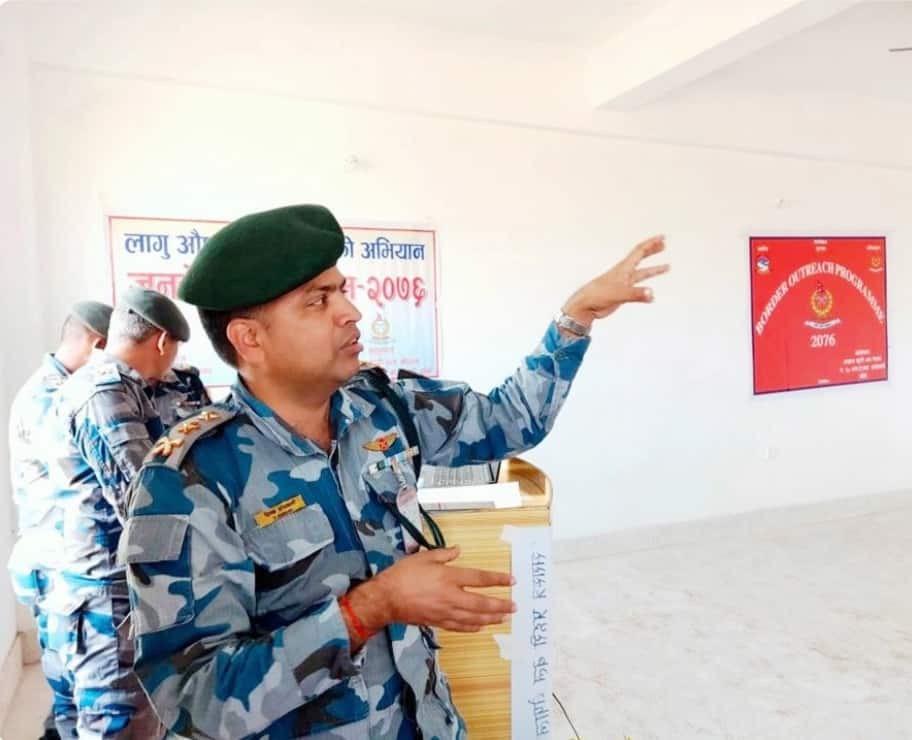बाँके सशस्त्र एसपी अधिकारी  भन्नुहुन्छ सिमा सुरक्षा दशगजा क्षेत्रमा कुनैपनि अतिक्रमण हुन दिने छैनौं