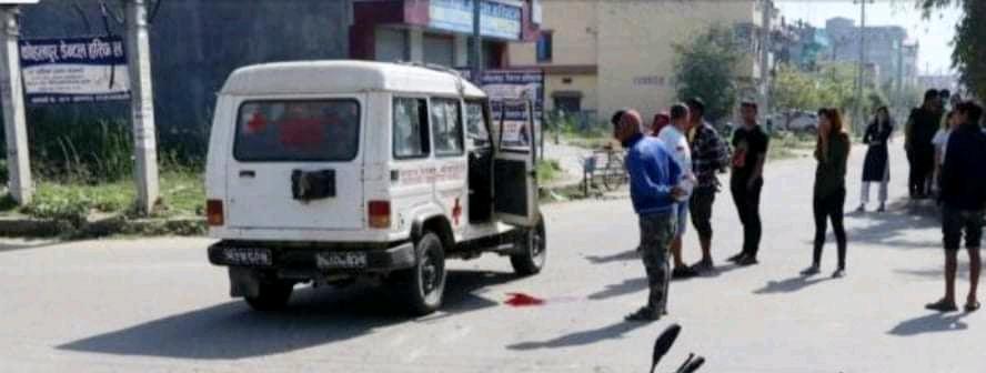 कोहलपुरमा एम्बुलेन्सको ठक्करबाट एकजनाको मृत्यु