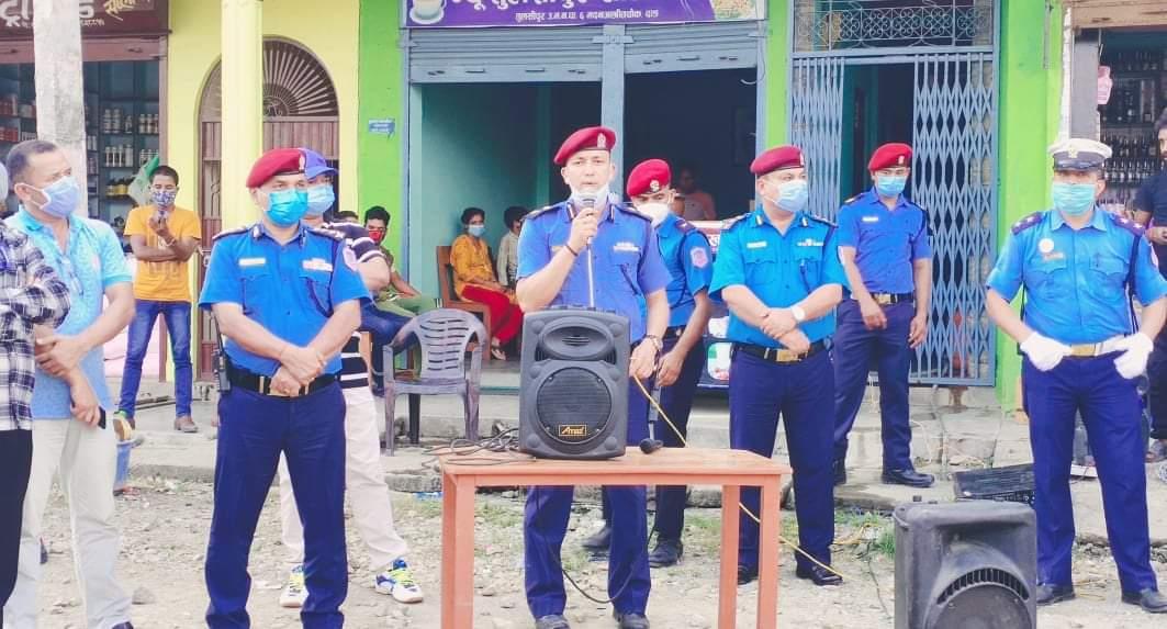 प्रदेश नम्बर ५ को १२ वटै जिल्लामा एउटै मापदण्डको चेकिङ व्यरिकेट राखियो
