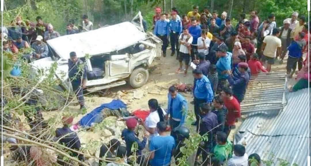 पश्चिम रुकुममा जीप दूर्घटना हुँदा ५ जनाको मृत्यु
