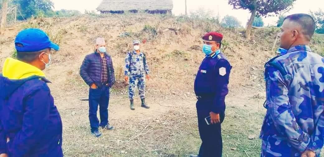 दाङका सुरक्षा प्रमुखहरु नेपाल भारत सीमाक्षेत्रको अनुगमनमा