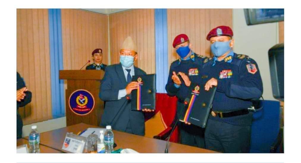 नेपाल पुलिस स्कुल र एन्फाबीच समझदारी पत्रमा हस्ताक्षर