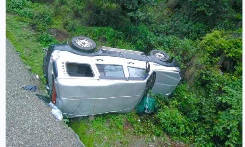 दाङमा स्कारपियो दुर्घटना हुदा चालकको मृत्यु २ जना घाईते
