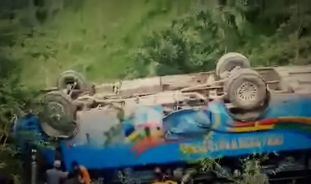 दाङमा बस दुर्घटना हुँदा २८ यात्रु घाइते
