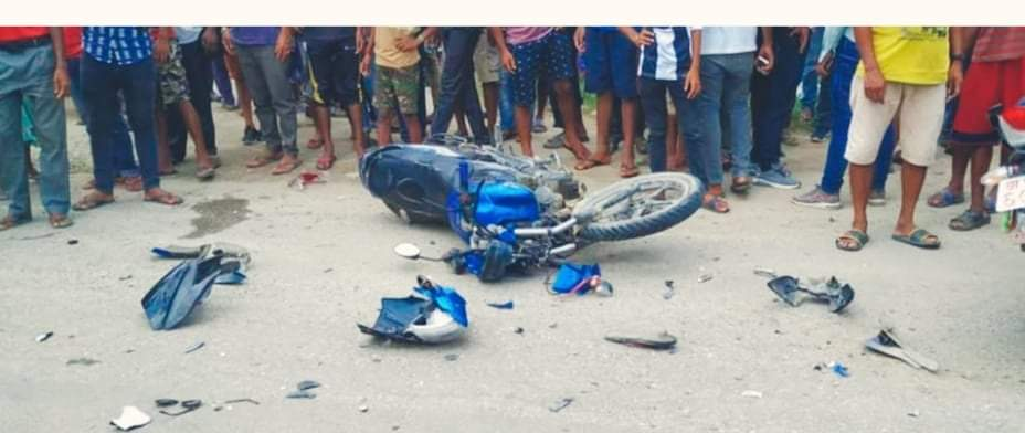 कैलालीमा मोटरसाइकल दुर्घटना हुँदा एक युवकको मृत्यु