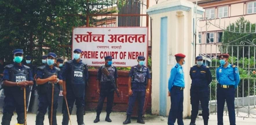 काठमाडौंमा सुरक्षा व्यवस्था कडा प्रधानन्यायाधीश राणाबिरुद्ध नाराबाजी सुरु 