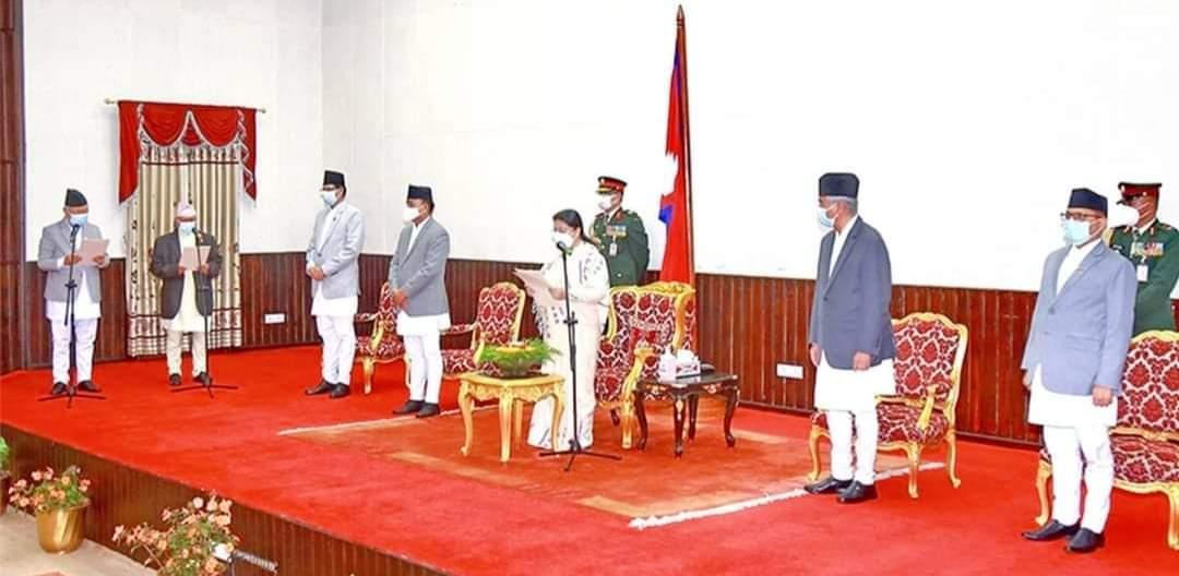राष्ट्रपति विद्यादेवी भण्डारी मार्फत दुई प्रदेश प्रमुखले लिए सपथ