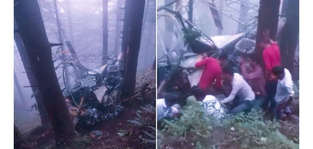 भारतीय सेनाको हेलिकोप्टर दुर्घटना दुबै पाइलटको मृत्यु